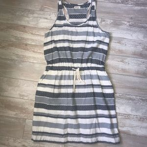 Lou & Grey l Cinch Waist Dress with Pockets Sz Lg